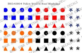 Police Vehicle Roof Markings